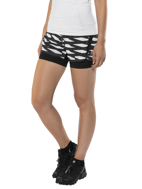 Craft Breakaway 2-In-1 Shorts Women P Trellis Black